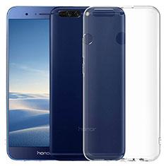 Cover Silicone Trasparente Ultra Sottile Morbida T06 per Huawei Honor 8 Pro Chiaro