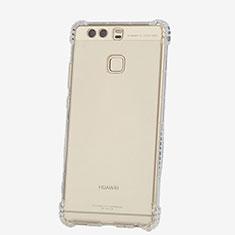 Cover Silicone Trasparente Ultra Sottile Morbida T06 per Huawei P9 Plus Chiaro