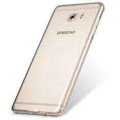 Cover Silicone Trasparente Ultra Sottile Morbida T06 per Samsung Galaxy C9 Pro C9000 Chiaro