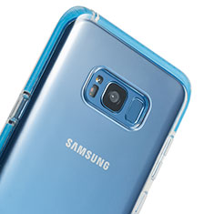 Cover Silicone Trasparente Ultra Sottile Morbida T06 per Samsung Galaxy S8 Chiaro