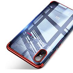Cover Silicone Trasparente Ultra Sottile Morbida T06 per Xiaomi Mi 8 Screen Fingerprint Edition Rosso