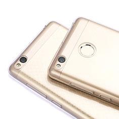 Cover Silicone Trasparente Ultra Sottile Morbida T06 per Xiaomi Redmi 3 Pro Grigio