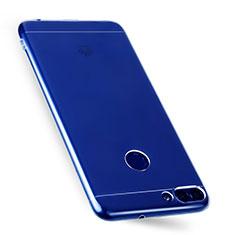 Cover Silicone Trasparente Ultra Sottile Morbida T07 per Huawei Enjoy 7S Chiaro
