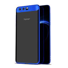 Cover Silicone Trasparente Ultra Sottile Morbida T07 per Huawei Honor 9 Premium Blu