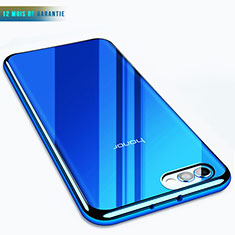 Cover Silicone Trasparente Ultra Sottile Morbida T07 per Huawei Honor V10 Blu