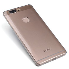 Cover Silicone Trasparente Ultra Sottile Morbida T07 per Huawei Honor V8 Grigio