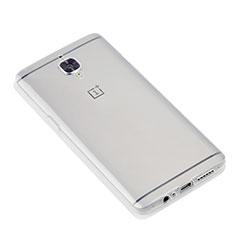 Cover Silicone Trasparente Ultra Sottile Morbida T07 per OnePlus 3 Chiaro