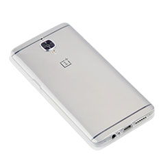 Cover Silicone Trasparente Ultra Sottile Morbida T07 per OnePlus 3T Chiaro