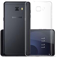 Cover Silicone Trasparente Ultra Sottile Morbida T07 per Samsung Galaxy C7 Pro C7010 Chiaro