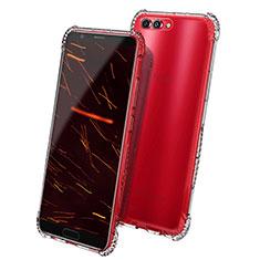 Cover Silicone Trasparente Ultra Sottile Morbida T08 per Huawei Honor V10 Chiaro