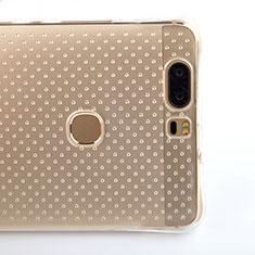 Cover Silicone Trasparente Ultra Sottile Morbida T08 per Huawei Honor V8 Chiaro