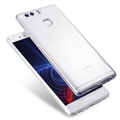 Cover Silicone Trasparente Ultra Sottile Morbida T08 per Huawei P9 Chiaro