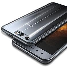 Cover Silicone Trasparente Ultra Sottile Morbida T09 per Huawei Honor 9 Argento