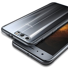 Cover Silicone Trasparente Ultra Sottile Morbida T09 per Huawei Honor 9 Premium Argento