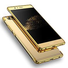 Cover Silicone Trasparente Ultra Sottile Morbida T09 per Huawei P9 Oro