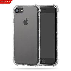 Cover Silicone Trasparente Ultra Sottile Morbida T10 per Apple iPhone 8 Chiaro
