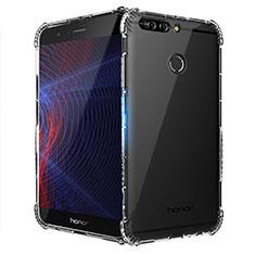 Cover Silicone Trasparente Ultra Sottile Morbida T10 per Huawei Honor 8 Pro Chiaro