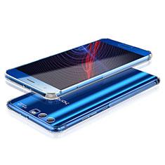 Cover Silicone Trasparente Ultra Sottile Morbida T10 per Huawei Honor 9 Premium Argento