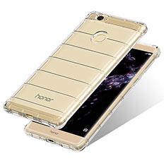 Cover Silicone Trasparente Ultra Sottile Morbida T10 per Huawei Honor V8 Max Chiaro