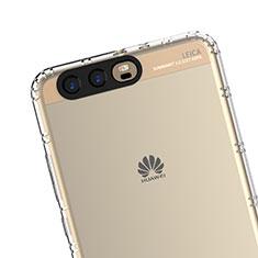 Cover Silicone Trasparente Ultra Sottile Morbida T14 per Huawei P10 Plus Chiaro