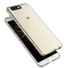 Cover Silicone Trasparente Ultra Sottile Morbida T16 per Huawei P10 Chiaro