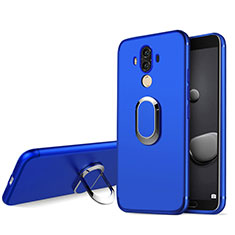 Cover Silicone Ultra Sottile Morbida con Anello Supporto per Huawei Mate 10 Pro Blu