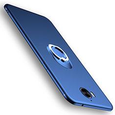 Cover Silicone Ultra Sottile Morbida con Anello Supporto per Huawei Y6 (2017) Blu