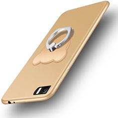 Cover Silicone Ultra Sottile Morbida con Anello Supporto per Xiaomi Mi 3 Oro