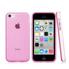 Cover Silicone Ultra Sottile Morbida Laterale Opaca per Apple iPhone 5C Rosa