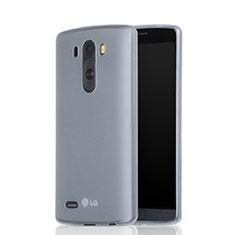 Cover Silicone Ultra Sottile Morbida Opaca per LG G3 Bianco