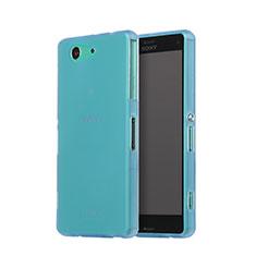 Cover Silicone Ultra Sottile Morbida Opaca per Sony Xperia Z3 Compact Cielo Blu