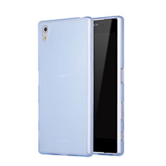 Cover Silicone Ultra Sottile Morbida Opaca per Sony Xperia Z5 Blu