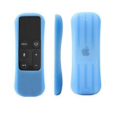 Cover Silicone Ultra Sottile Morbida per Apple TV 4 Blu