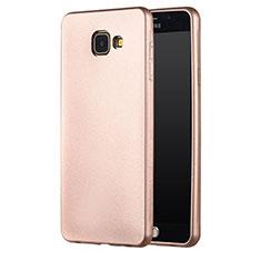 Cover Silicone Ultra Sottile Morbida per Samsung Galaxy A3 (2017) SM-A320F Oro