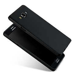 Cover Silicone Ultra Sottile Morbida per Samsung Galaxy A7 Duos SM-A700F A700FD Nero