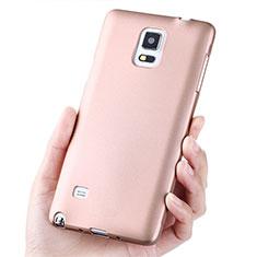 Cover Silicone Ultra Sottile Morbida S02 per Samsung Galaxy Note 4 Duos N9100 Dual SIM Oro Rosa