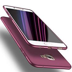 Cover Silicone Ultra Sottile Morbida S03 per Samsung Galaxy C7 Pro C7010 Viola