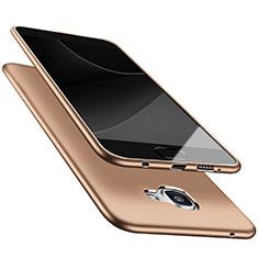 Cover Silicone Ultra Sottile Morbida S05 per Samsung Galaxy A9 Pro (2016) SM-A9100 Oro