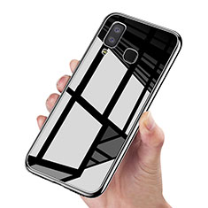 Cover Silicone Ultra Sottile Morbida Specchio per Samsung Galaxy A9 Star SM-G8850 Nero
