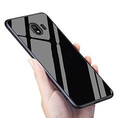 Cover Silicone Ultra Sottile Morbida Specchio per Samsung Galaxy J2 Pro (2018) J250F Nero