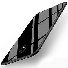 Cover Silicone Ultra Sottile Morbida Specchio per Samsung Galaxy J5 (2017) SM-J750F Nero
