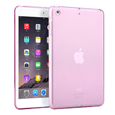 Cover TPU Trasparente Ultra Sottile Morbida per Apple iPad Mini 2 Rosa