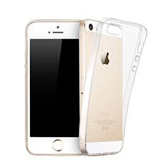 Cover TPU Trasparente Ultra Sottile Morbida per Apple iPhone 5 Chiaro