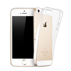 Cover TPU Trasparente Ultra Sottile Morbida per Apple iPhone 5S Chiaro