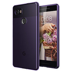 Cover TPU Trasparente Ultra Sottile Morbida per Google Pixel 2 XL Viola