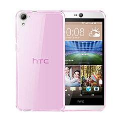 Cover TPU Trasparente Ultra Sottile Morbida per HTC Desire 826 826T 826W Rosa