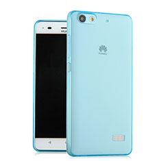 Cover TPU Trasparente Ultra Sottile Morbida per Huawei G Play Mini Blu