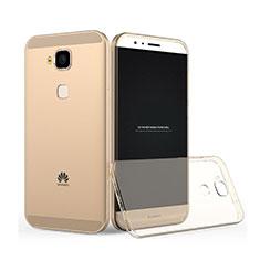 Cover TPU Trasparente Ultra Sottile Morbida per Huawei G8 Oro