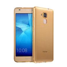 Cover TPU Trasparente Ultra Sottile Morbida per Huawei GR5 Mini Oro