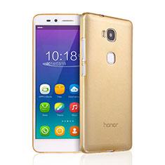 Cover TPU Trasparente Ultra Sottile Morbida per Huawei GR5 Oro